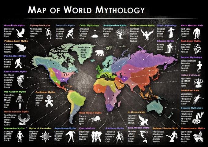 1a Map of world Mythology