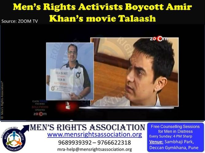 13 Mens rights group boycott Aamir khan