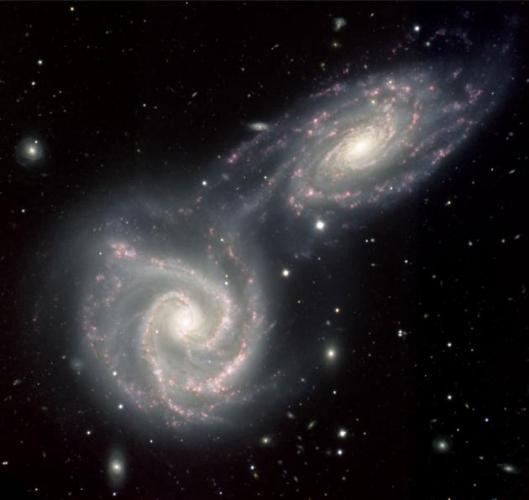 5a Spiral galaxies colliding