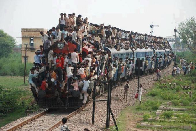 So many people on train