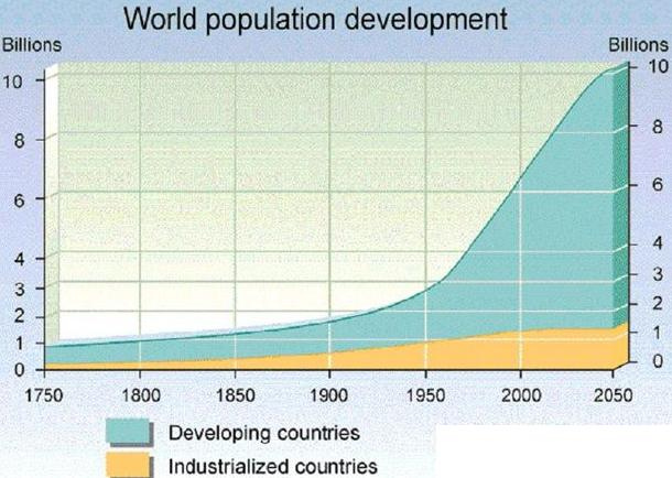 world population trend