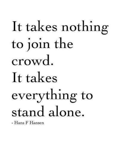 13p courage to stand alone