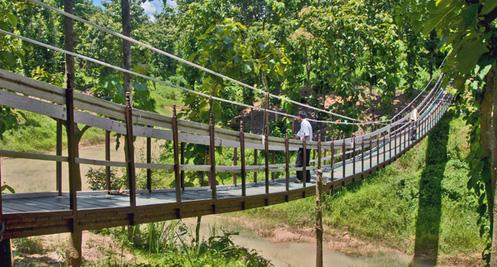 32n Hanging bridge in Tripura