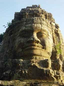 34k Stone smiling face of Cambodia