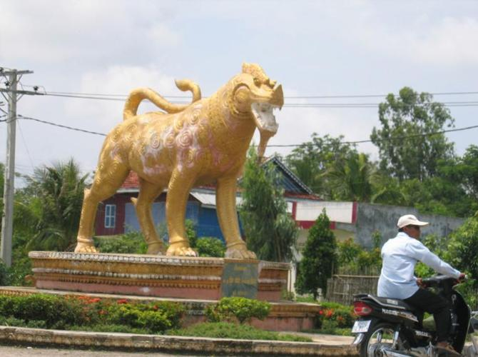34m Cambodia lion statue