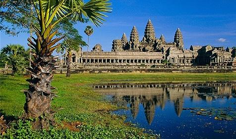 34p Cambodian Temple