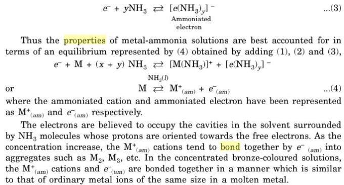 12 Ammoniated electron