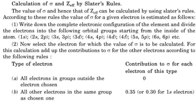 13 calculation of sigma by slater rule