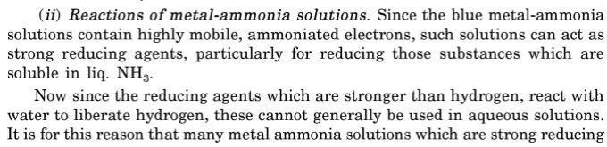 13 Reactions of Liquid Ammonia Solutions