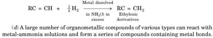 15 Organometallics can react with Liquid Ammonia