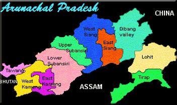 31q Arunachal pradesh map