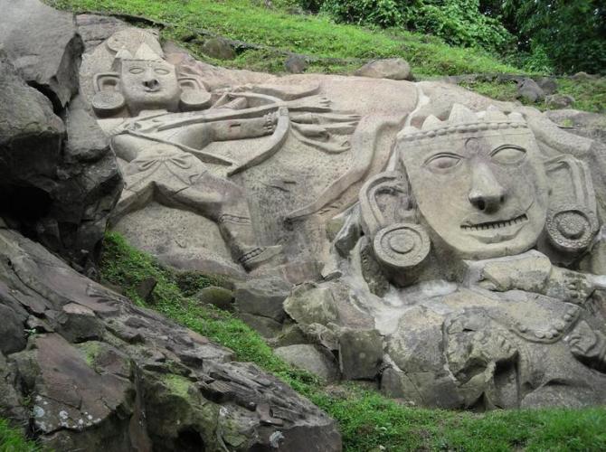 32v Tripura monkey in hill