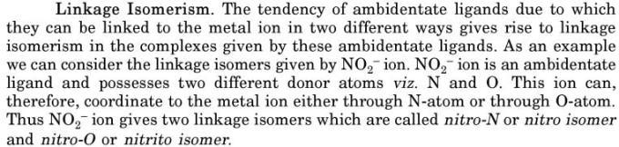 7 Linkage Isomerism