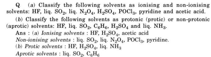 9 Classify as protic non protic Solvent