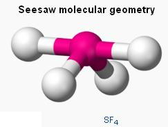 9 SF4 disphenoidal seesaw geometry