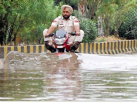 Police in deep waters