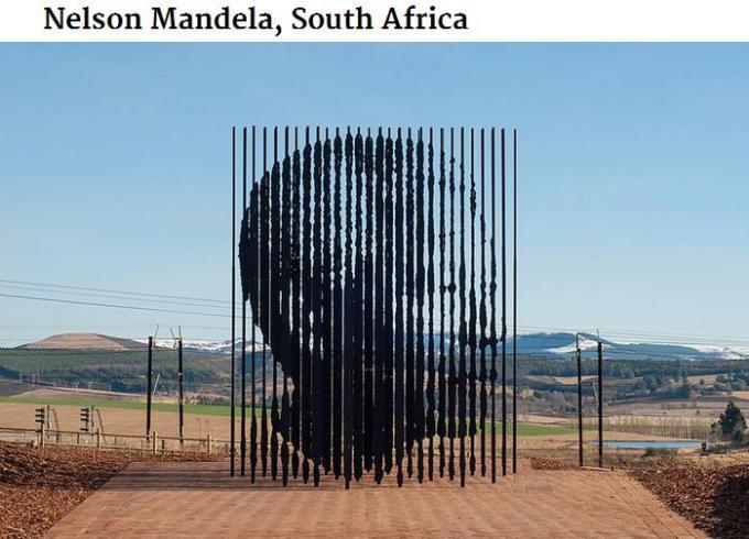 South Africa Nelson Mandela poles