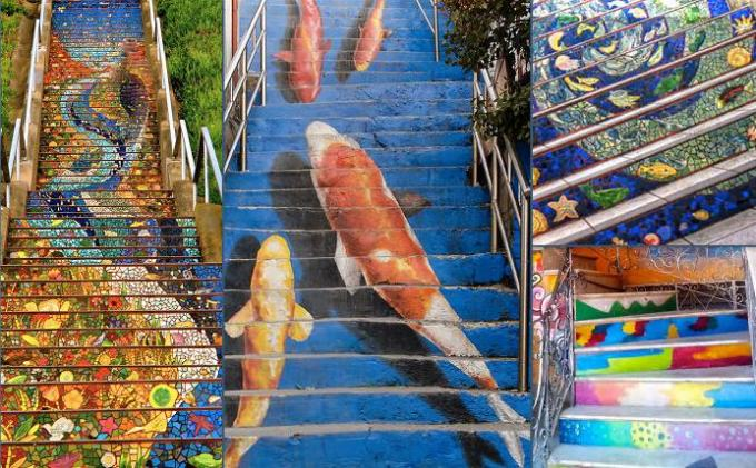 steps painted