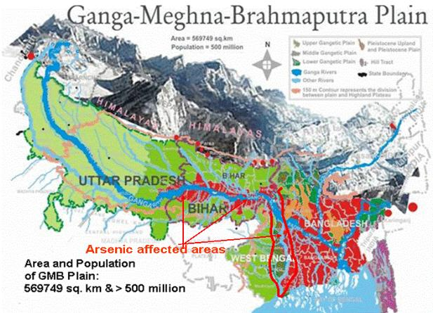 Arsenic Ground water India Bangladesh West Bengal
