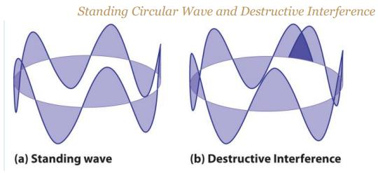 17 Standing circular wave constructive destructive interference SKMClasses