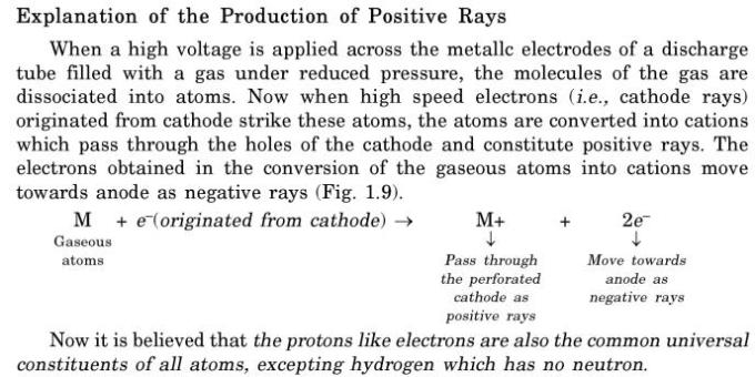 18 explanation of positive rays