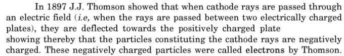 2 J J Thompson cathode ray electric field