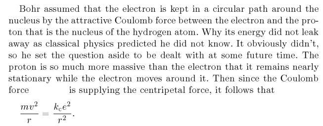3 Bohrs derivations