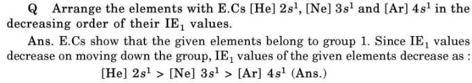 33 decreasing order of Ionization energy