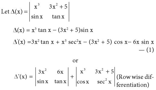 11 Differentiation of Determinant
