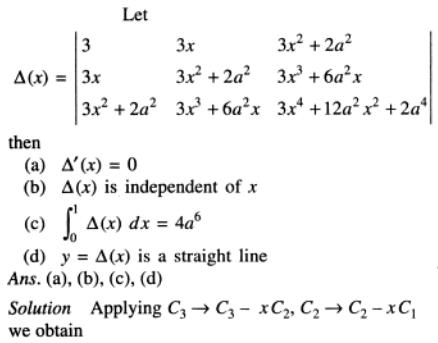 13 Determinant x 0 to 1