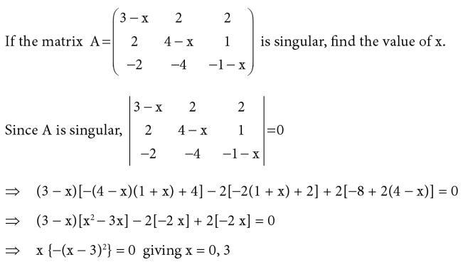 14 Singular Matrix