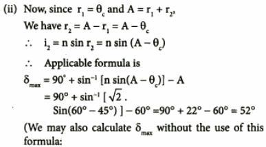 16 Minimum deviation in a prism