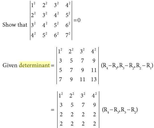 19 4 by 4 Determinant