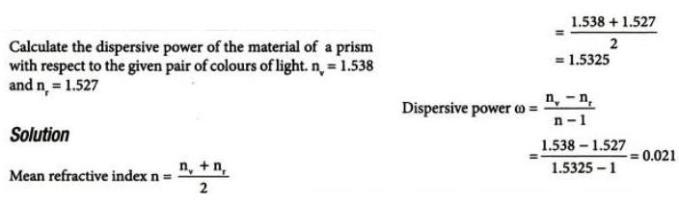 19 Dispersion power of a prism