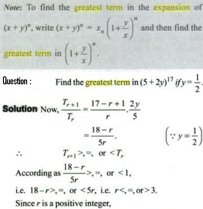 1b Greatest term in Binomial Expansion