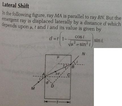 1b Lateral shift due to a slab