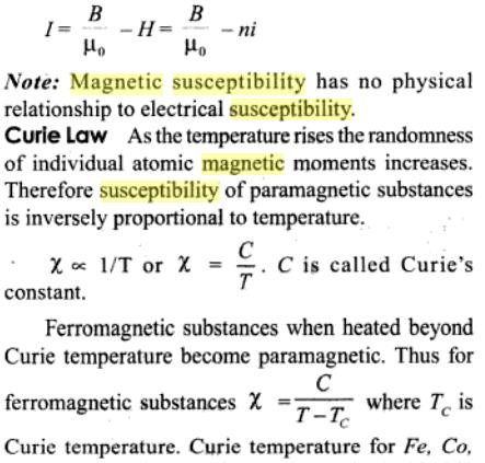 1c Magnetic susceptibility Curie law