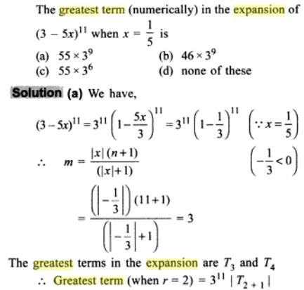 1f Greatest term in Binomial Expansion