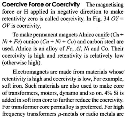 1h Coercive force or Coercivity