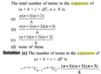 1j total number of terms in the expansion