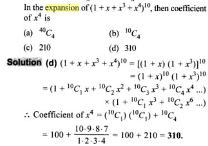 1l in the expansion of coefficient of x 4