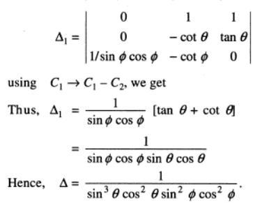 2 Determinant with Trigonometry