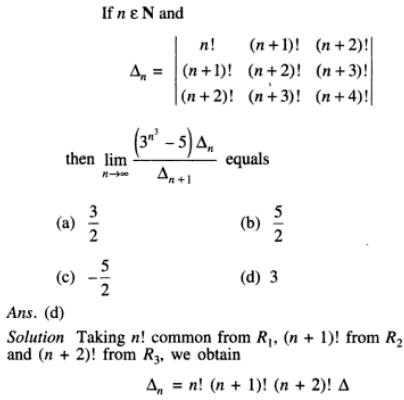 21 Determinant with n function