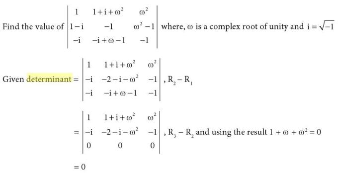 23 Determinant with Complex number