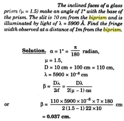 25 fresnel's biprism interference SKMClasses IIT JEE Bangalore