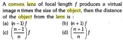 27 convex lens focal lenght produces image n times SKMClasses IIT JEE Bangalore