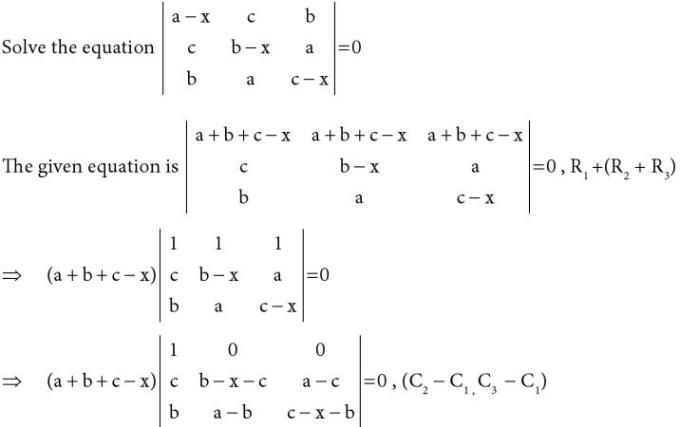 27 Solve the equation in Determinant