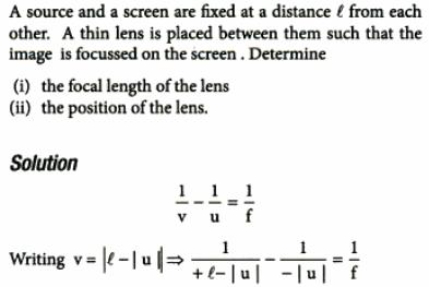 27 source screen fixed distance l focussed