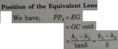 3 Equivalent lens when 2 lenses are separated by d
