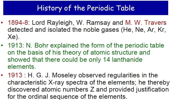 3 History of Periodic Table